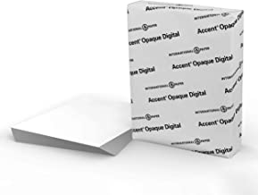 Accent Opaque White Cardstock Paper, 65lb Cover, 176 gsm, 8.5 x 11 card stock, 1 Ream / 250 Sheets, Medium Weight Cardstoc...