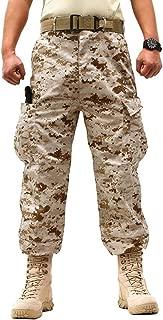 ZLSLZ Men's Military Tactical Casual Camouflage Multi-Pocket BDU Cargo Pants Trousers