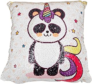 "Sloth 16/"" Reversible Sequin Pillow Llama Donut Select your Favorite Colorful Design Llama Playful Addition to Kids Bed or Playroom Alpaca /& More Penguin Narwhal Watermelon Panda"