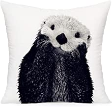 Smilyard Otter Throw Pillow Covers Super Soft Decorative Pillow Cover Animal Cushion Cover for Home Sofa Bedroom Decor 18X...