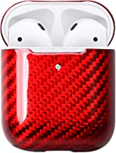 LICHIFIT Carbon Fiber Shockproof LED Protective Case Cover Sleeve Skin for Apple AirPods 2 Wireless Charging Case