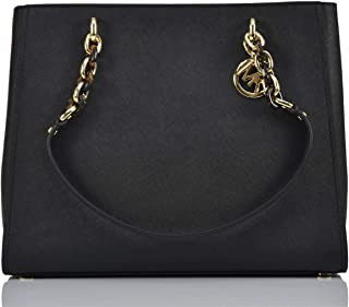 Michael Kors Women's Sofia Tote Handbag, Leather- Black