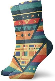 Hunter qiang, Calcetines para hombre y mujer, estilo tribal, sin costuras, multicolor, 30 cm