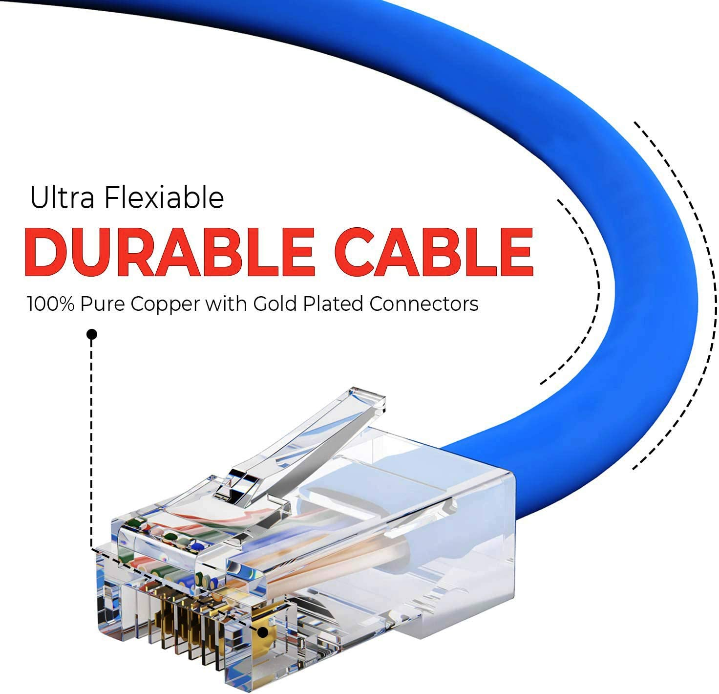Professional Series 4 Pack 350MHZ 1Gbps Network//Internet Cable Blue BoltLion BL-699889 Bootless Cat5e RJ45 Ethernet Cable 5 Feet