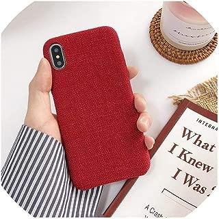 布の質感ソフトTPUケースiphone 7ケース超薄型キャンバスシリコーン電話ケースiphone 6 6S 7 8プラスX Xs最大ケース、iPhone 6 6S、9