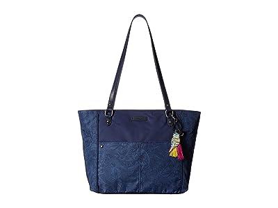 Sakroots Artist Circle Medium Tote (Indigo Spirit Desert) Tote Handbags