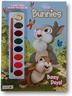 Disney Bunnies ''Bunny Days!'' Book to Color with Paint Box
