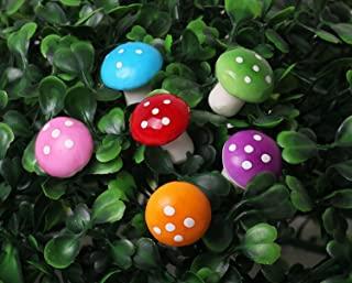 Sungpunet 60 Pcs Miniature Fairy Garden Colorful Mushroom