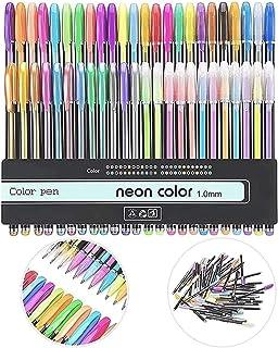 URBAN BOX 48pcs Gel Ink Pens Drawing Pen Sets 4 Types Painting Pens(12pcs Pastel,12pcs Neon pen,12pcs Metallic pen,12pcs G...