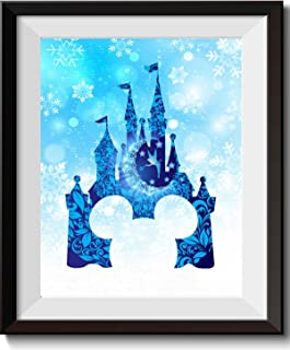 Uhomate Tinkerbell Peter Pan Princess Cinderella Castle Home Canvas Prints Wall Art Anniversary Gifts Baby Gift Inspirational Quotes Wall Decor Living Room Bedroom Artwork C011 (5X7 inch)