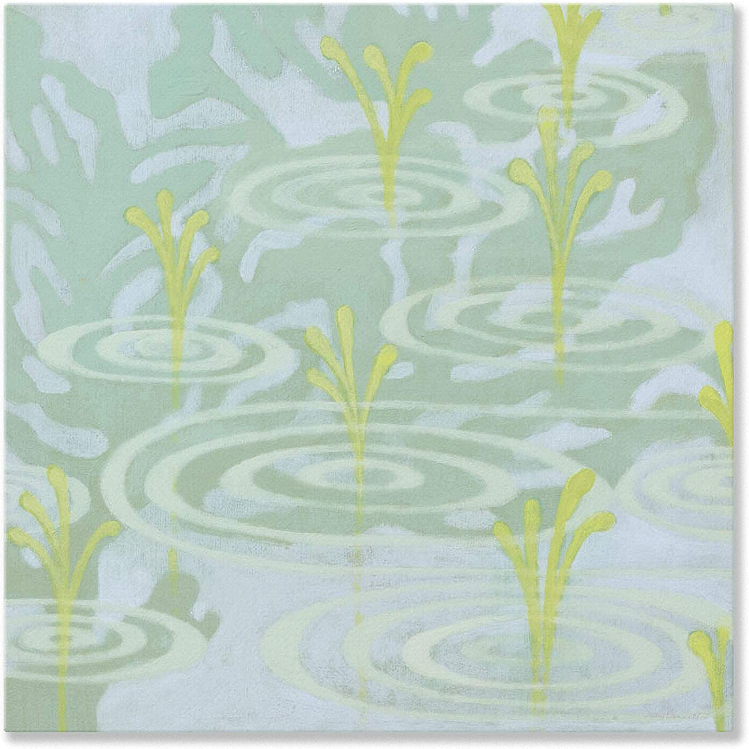 Oopsy Daisy bluee Pond From Gulf Coast Shadows Stretched Canvas Wall Art by Sally Bennett, 14 by 14Inch