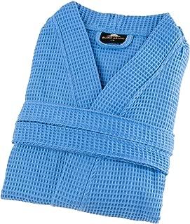 Mens Waffle-Knit Bathrobe – Lightweight Hotel Spa Robe, Made in Turkey
