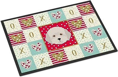 Caroline's Treasures Cyprus Poodle Love Indoor or Outdoor Mat 24x36 doormats, Multicolor