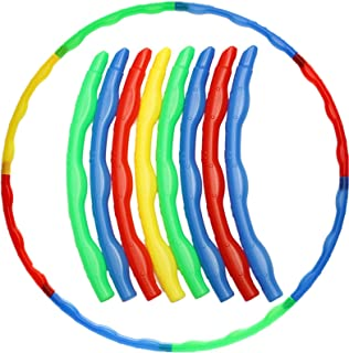 Lapha' Kit Loop Exercise Multi-Color Adjustable Hula Hoop for kids Child Kids Teen Portable Yoga Fitness Slot Toys Fit Sporting Fitness, Running & Yoga Fitness Equipment Gear Abdominal Exercisers