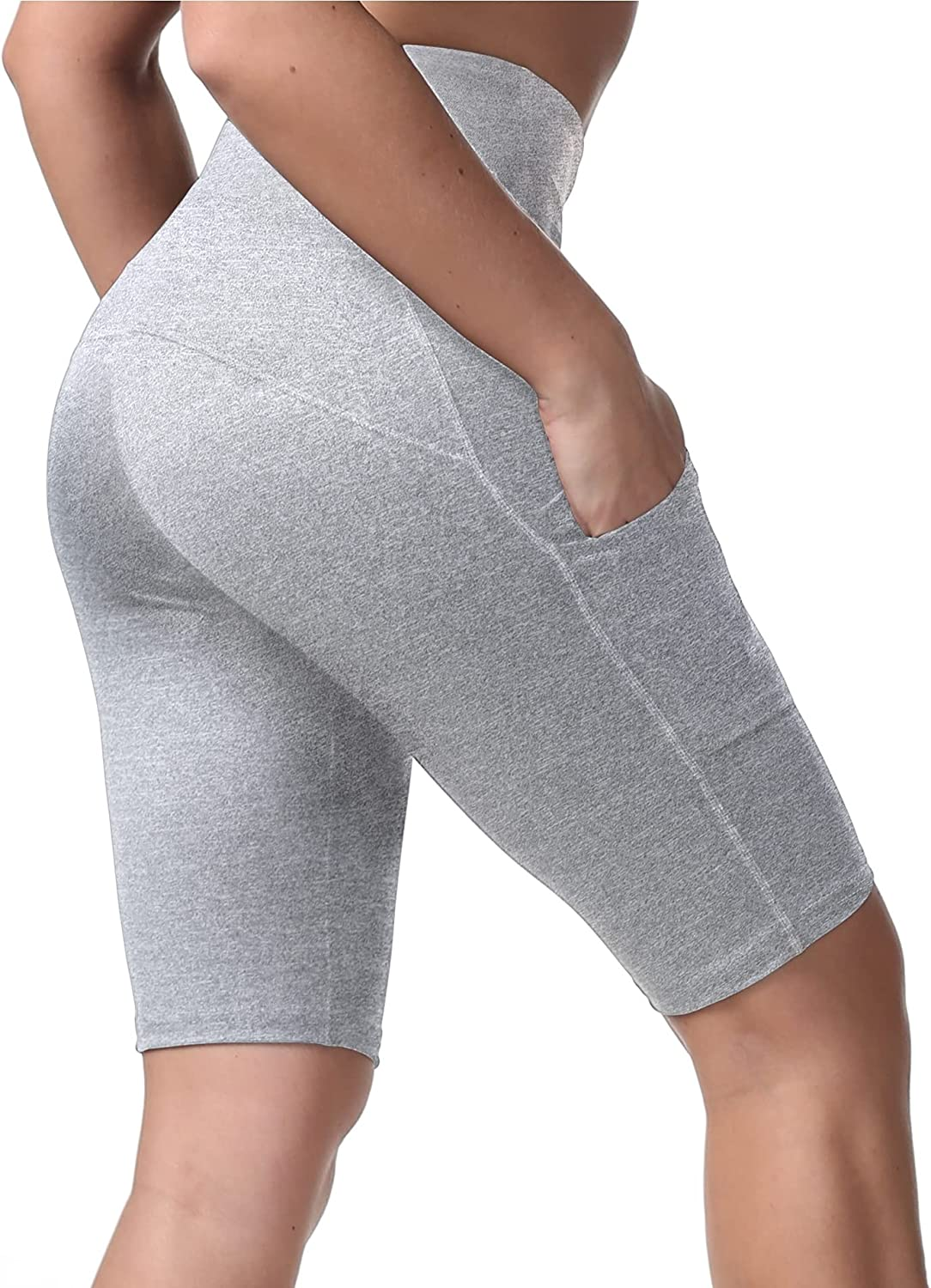 KUTAPU High Waist Biker Workout Sales for sale Yoga Wholesale 2 Shorts Pockets Non with