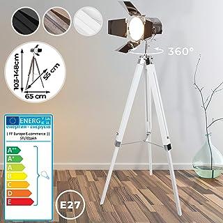 Classica lampada a stelo a LED con piantana e luce di lettura flessibile paralume in vetro bianco Piantana argento opaco.