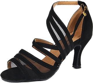 on sale e89e6 a0fcf SUKUTU Nouvelles Femmes Latin Ballroom Tango Chaussures de Danse Chaussures  de Danse en Satin pour Dames