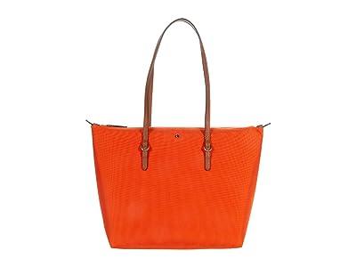 LAUREN Ralph Lauren Keaton 26 Shopper (Sailing Orange) Handbags