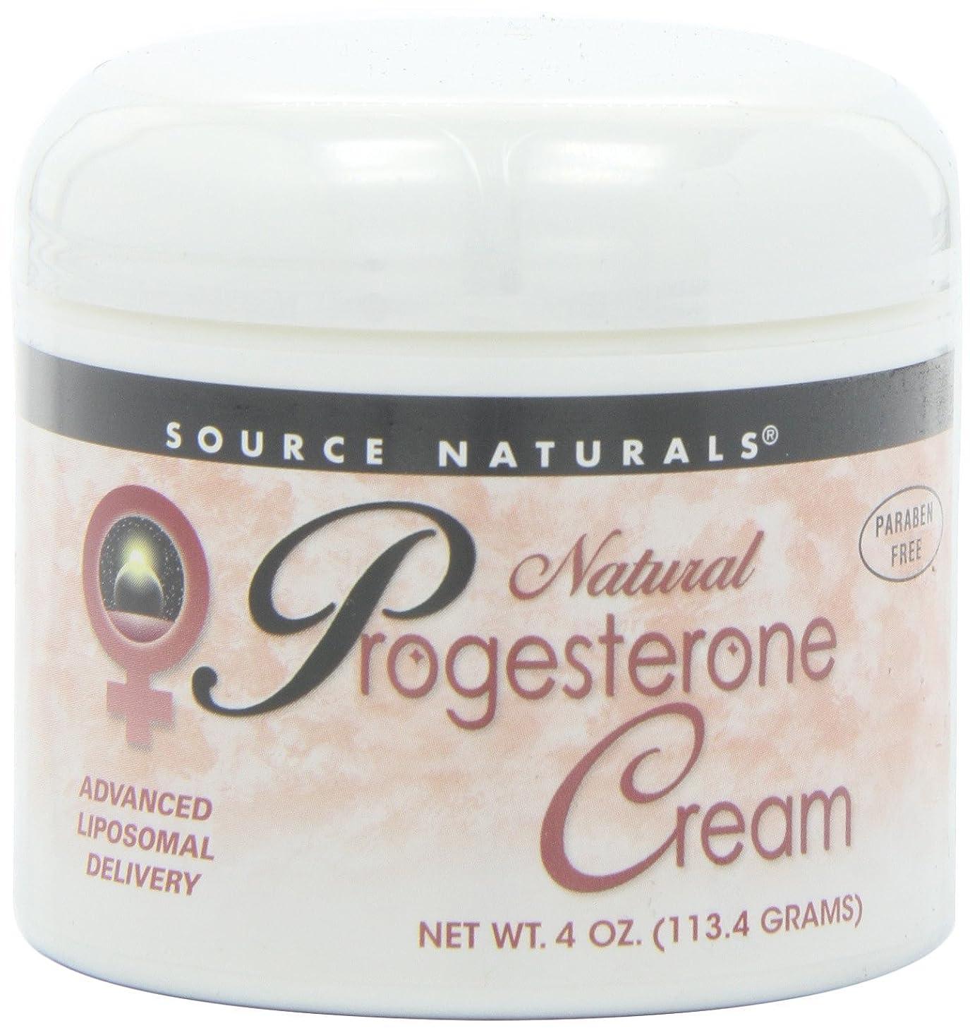 批判的に生き残り無謀Source Naturals Natural Progesterone Cream, 4 Ounce (113.4 g) クリーム 並行輸入品 [並行輸入品]