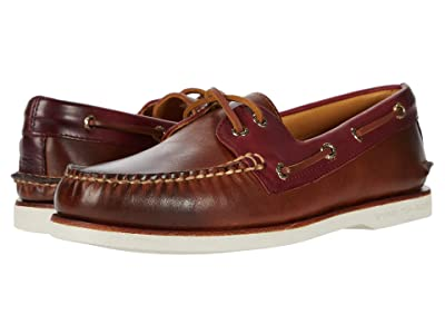 Sperry Gold Cup A/O 2-Eye Camden (Leather Brown) Men