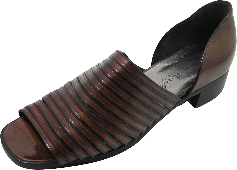 Santa Borella Designer 3732 Women's Italian Leather Open Toe Closed Back Sandal