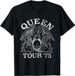 Queen Official Tour 75 Crest Logo T-Shirt