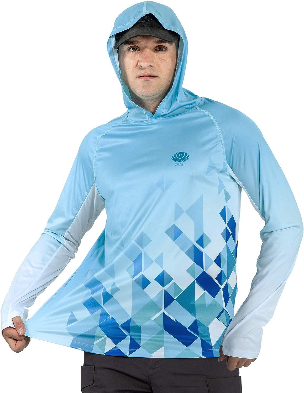 voofly Men's UPF depot 50+ UV Sun Protection New popularity Fit Long SPF Dry Sl Shirt
