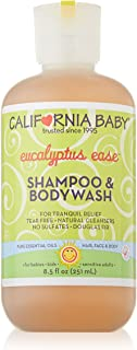 California Baby Eucalyptus Ease Shampoo and Body Wash - Hair, Face, and Body | Gentle, Allergy Tested | Dry, Sensitive Skin, 8.5 oz.