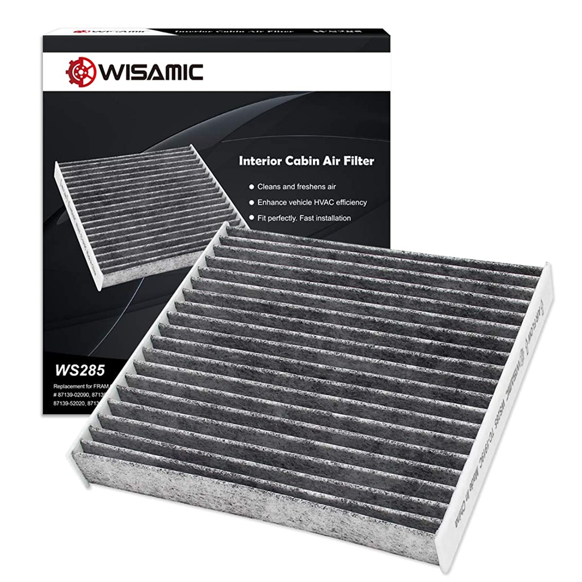 WISAMIC Cabin Air Filter Replacement for Toyota/Lexus/Scion/Subaru includes Activated Carbon WS285 (CF10285)