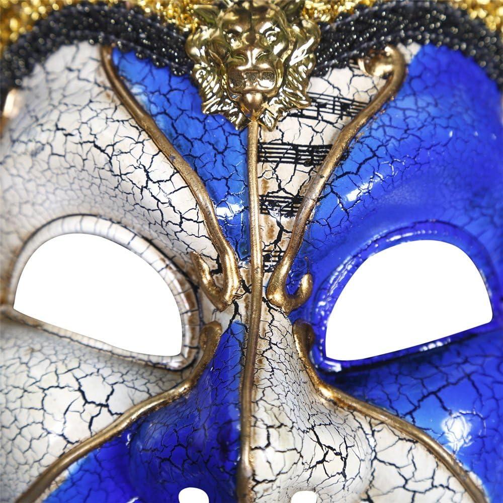 Halloween Masker High-end Mooi Crack Holiday Masker van de Partij van Halloween Clown Mask-Role playing Mask (Color : Red) Blue