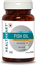 HealthKart Fish oil (1000 Omega 3 , with 180 mg EPA & 120 mg DHA) for brain, heart and eye health, 60 softgels