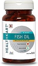 HealthKart Fish oil (1000 Omega 3, with 180 mg EPA & 120 mg DHA) for brain, heart and eye health, 60 softgels