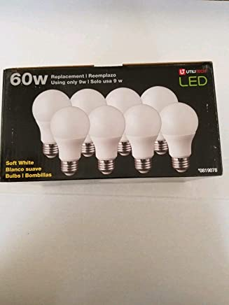 Utilitech 8-Pack 60 W Equivalent Soft White LED Light Bulb