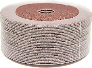 """5"""" x 7/8"""" 120 Grit Aluminum Oxide Resin Fiber Grinding & Sanding Discs - 25 Pack"""