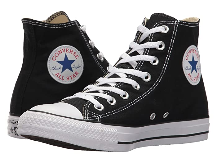1950s Men's Clothing Converse Chuck Taylorr All Starr Core Hi Black Classic Shoes $54.99 AT vintagedancer.com