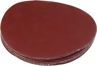 Dophee 10Pcs 7 Inch 180mm Red Alumina Polishing Sanding Discs Sandpaper Pad 240# Grit