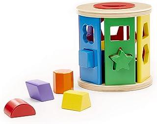 Melissa & Doug Match & Roll Shape Sorter | Developmental Toy | Motor Skills | 12 Months | Gift for Boy or Girl