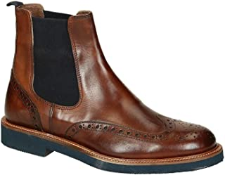 LEONARDO SHOES Luxury Fashion Mens U385PEVITELLOBROWN Brown Ankle Boots | Season Permanent
