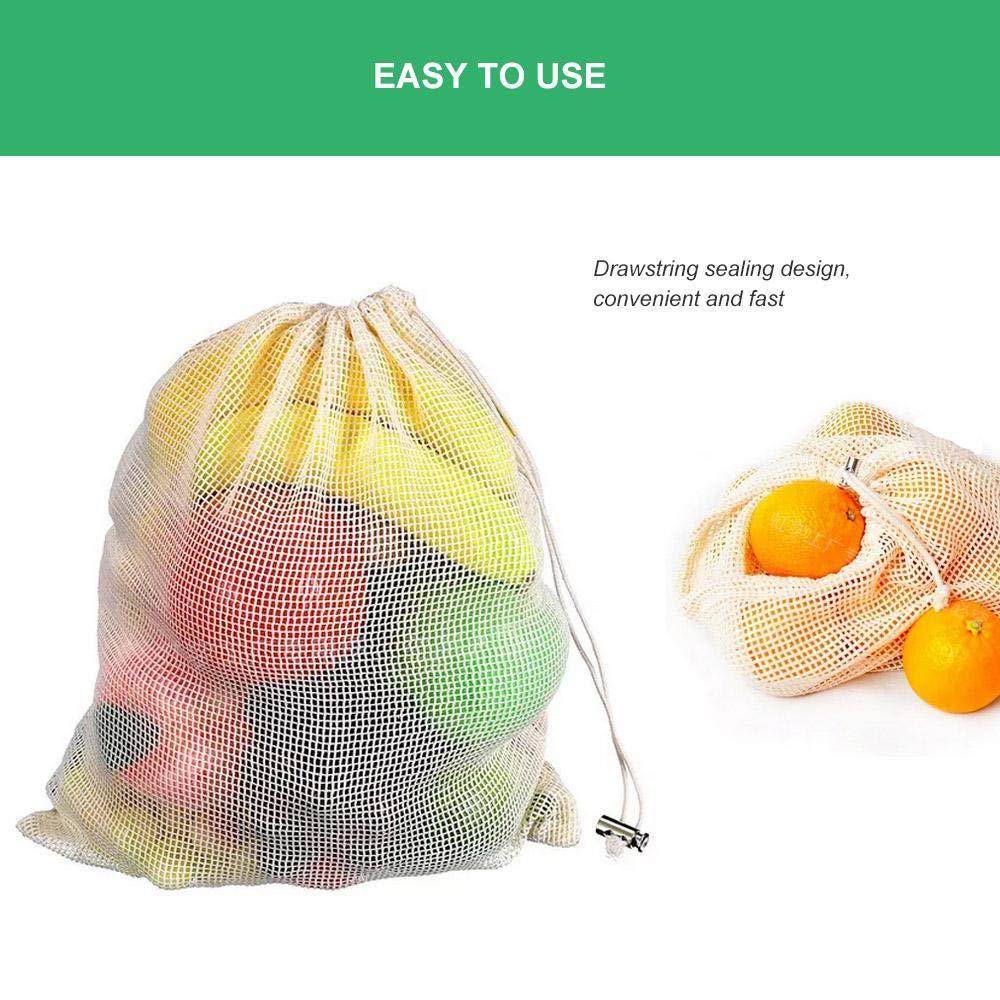 Womdee reutilizable bolsas de algodón ecológicas ecológico bolsa ...