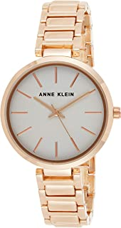 Anne Klein Womens Quartz Watch, Analog Display and Stainless Steel Strap AK3110LGRG