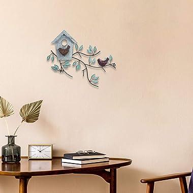 Metal Bird Wall Art Decor, Metal Leaf Wall Art, Metal Leaves Wall Decor, Tree Leaf Metal Wall Art Sculptures, Metal Tree Wall