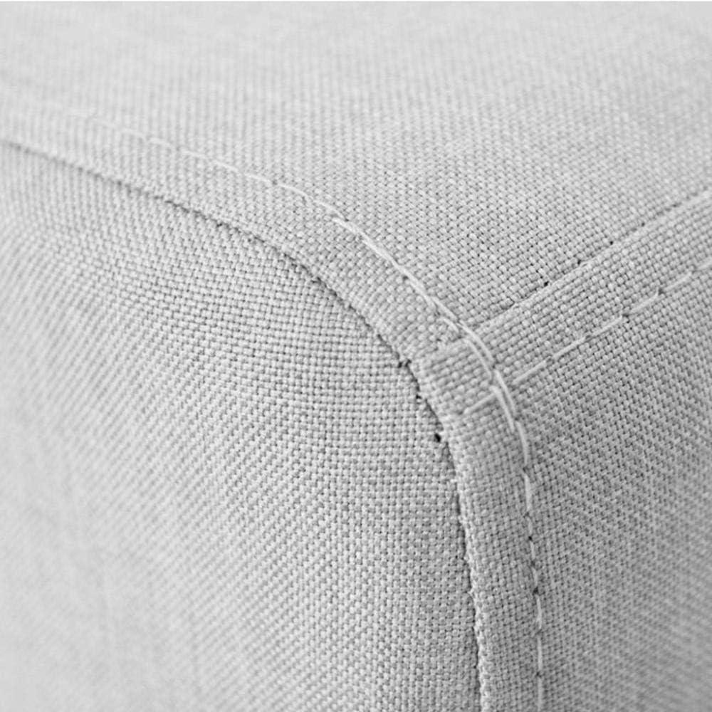 A/N Coussin Repose-Pied Petit Repose-Pied - Changement de Banc de Chaussure Repose-Pied en Bois Massif Production Chaise Tabouret Ménage Multifonction-Treillis Bleu