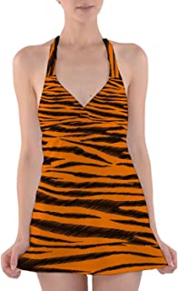 Rainbow Rules Tigger Stripes Winnie The Pooh Inspired Halter Swim Dress Swimsuit