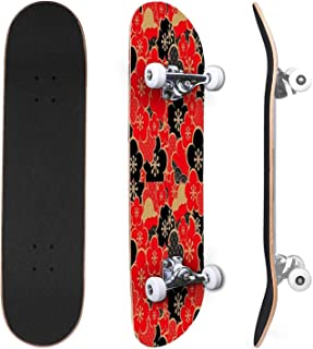 Classic Concave Skateboard Bandana Navy Blue Canadian Maple Trick Skateboards for Beginners and Professionals