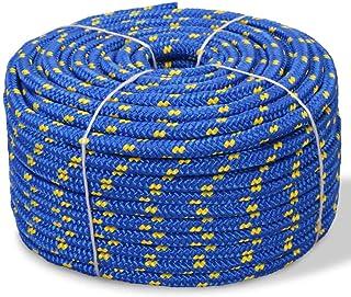 vidaXL Bootsseil Polypropylen 14mm 50m Blau Ankerleine Festmacher Tauwerk Seil
