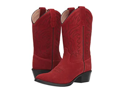 Old West Kids Boots Gabby (Toddler/Little Kid) (Red Suede) Cowboy Boots