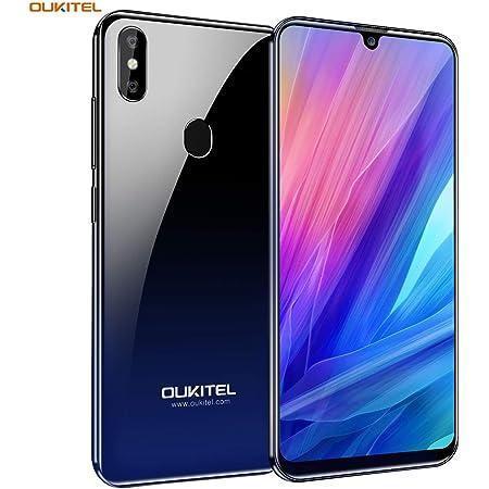 OUKITEL C15 PRO+ スマートフォン 星空ブルー SIMフリー アンドロイド 本体 3GB RAM + 32GB ROM 6.1インチ 大画面 Android 9.0 8MP+2MP+5MPカメラ デュアルSIM 顔認証 指紋認識 3200mAh大容量 バッテリー au不可 技適認証済み