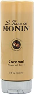 Monin Flavored Sauce, Caramel, 12-Ounce Bottles (Pack of 6)