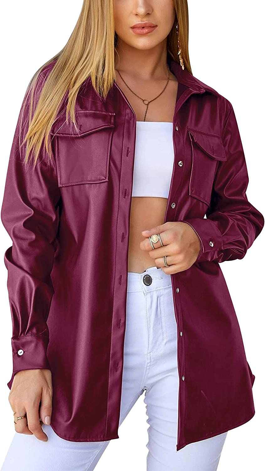 Womens Classic Faux Leather Jackets Down PU Sale Special Price Motorcycle Button Be Luxury goods