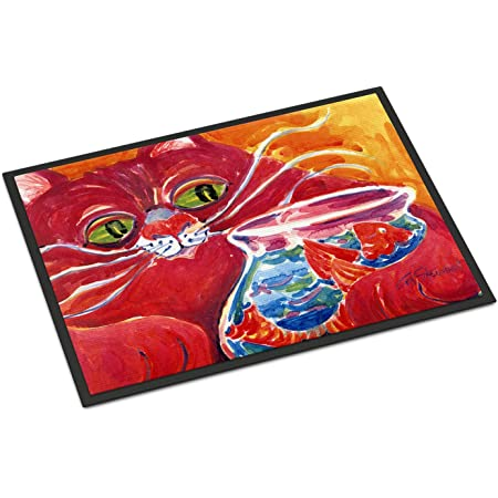Multicolor Carolines Treasures 6048SN Big Red Cat at The Fishbowl Refiillable Sticky Note Holder or Postit Note Dispenser Large